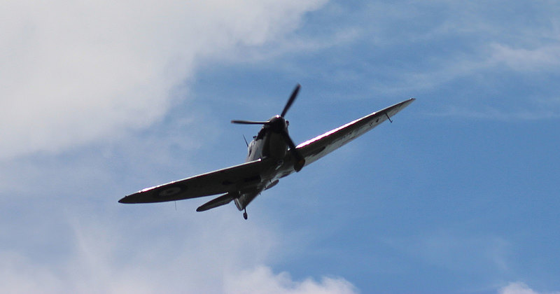 Battle of Britain Memorial Flight - Spitfire flypast