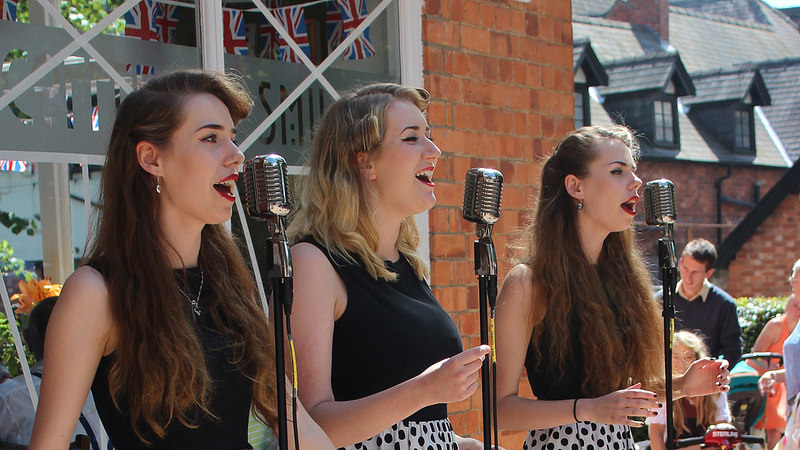 The Garnett Sisters appearing at the Book Fayre - 2016