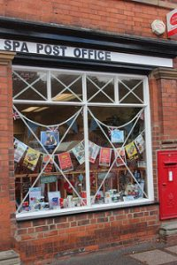 Post Office window display