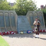 Phil Meadows by the Dambuster's Memorial