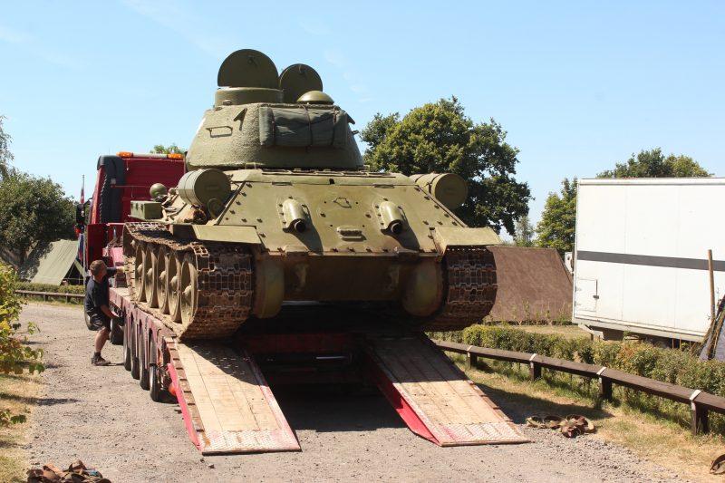 T34 arrives